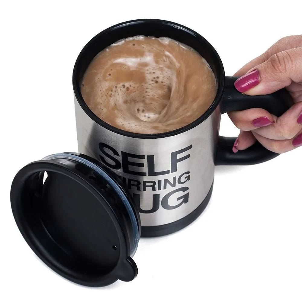 Caneca com Mexedor Automático - Self Stirring Mug