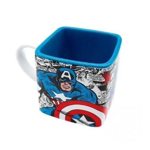 Caneca cubo Capitão América - 300ml