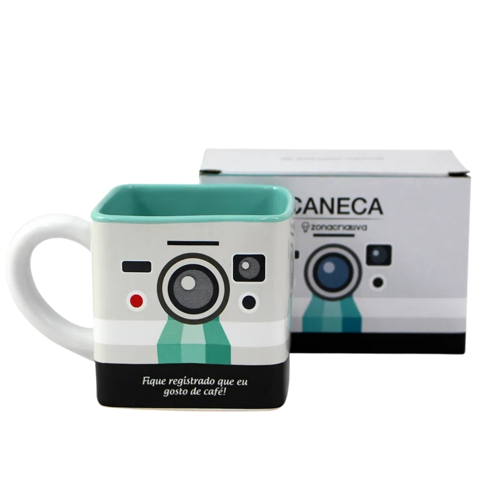 Caneca Cubo Câmera - 300ml