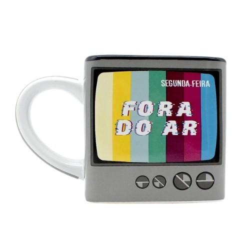 Caneca Cubo TV - Fora Do Ar