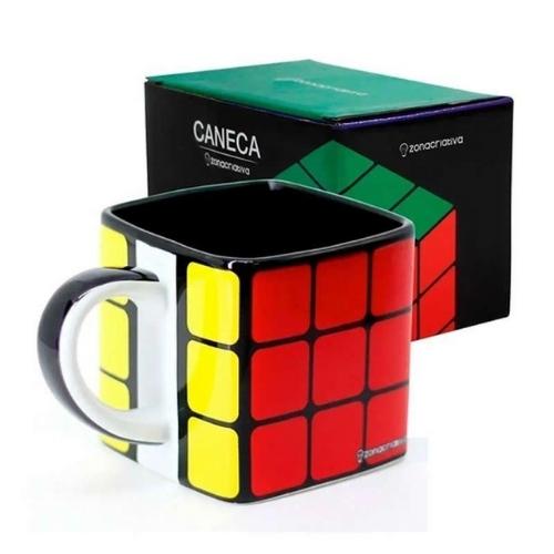 Caneca Cubo Rubiks - 300ML