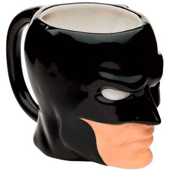 Caneca DC Comics Batman Face Preto