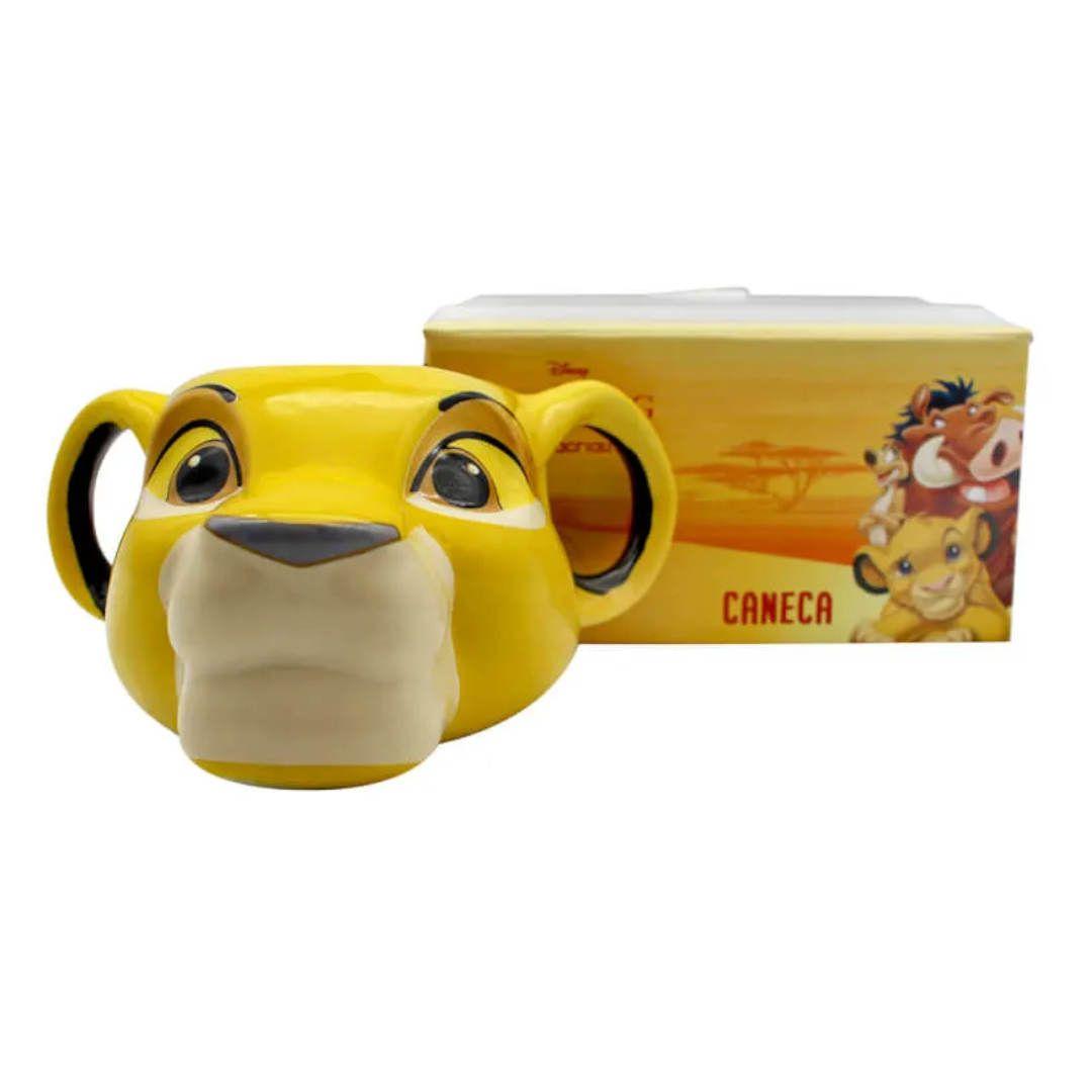 Caneca Formato 3D Rei Leão Simba