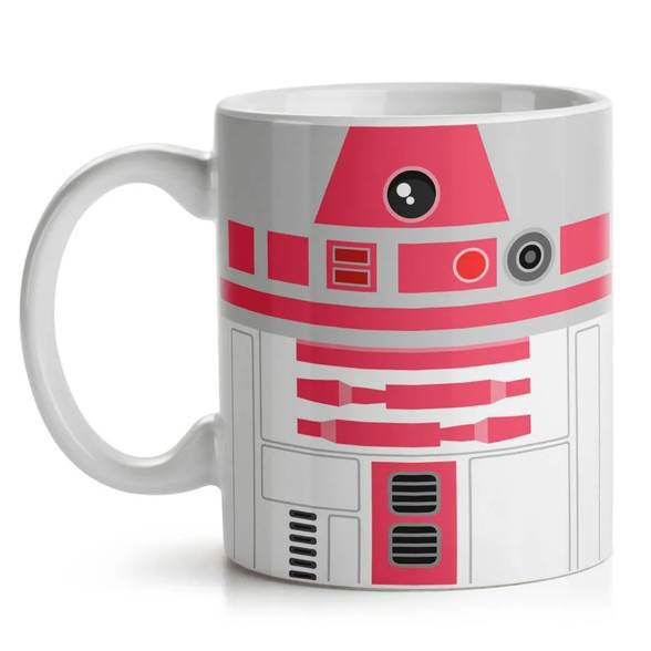 Caneca Geek Side Faces - R2 rosa