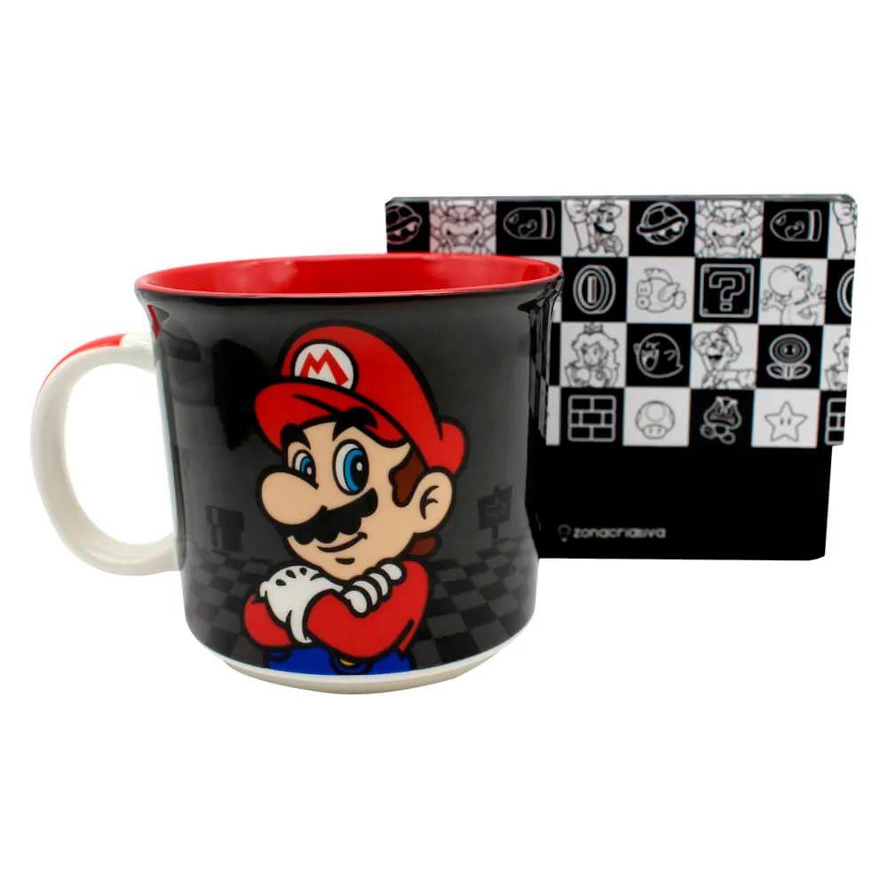 Caneca Mario Bros - Black