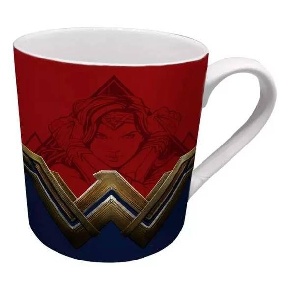 Caneca Mulher Maravilha Logo Vermelho