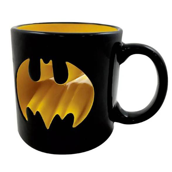 Caneca Porcelana 3D Batman Logo Vazado
