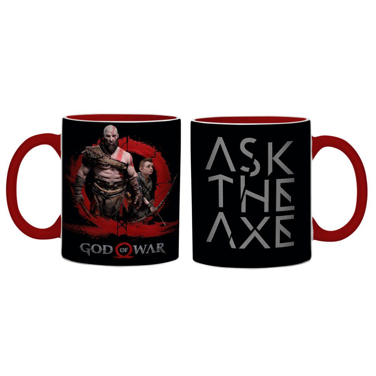 Caneca Porcelana Kratos axe God of Wars