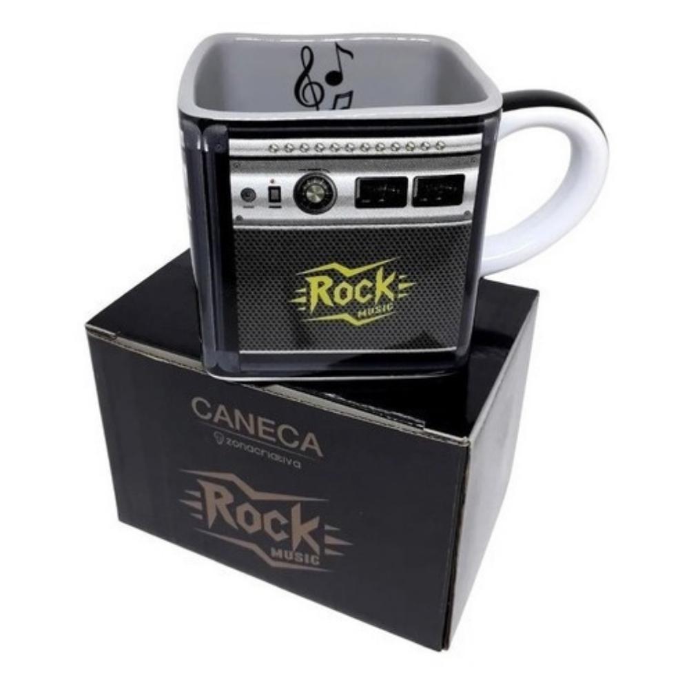 Caneca Quadrada - Caixa de Som Rock