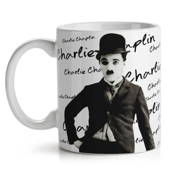 Caneca Retrô Charlie Chaplin