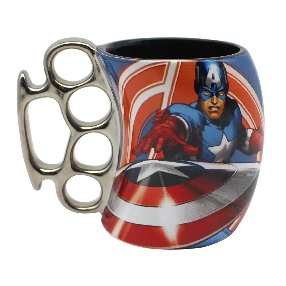 Caneca Soco Ingles Capitão America
