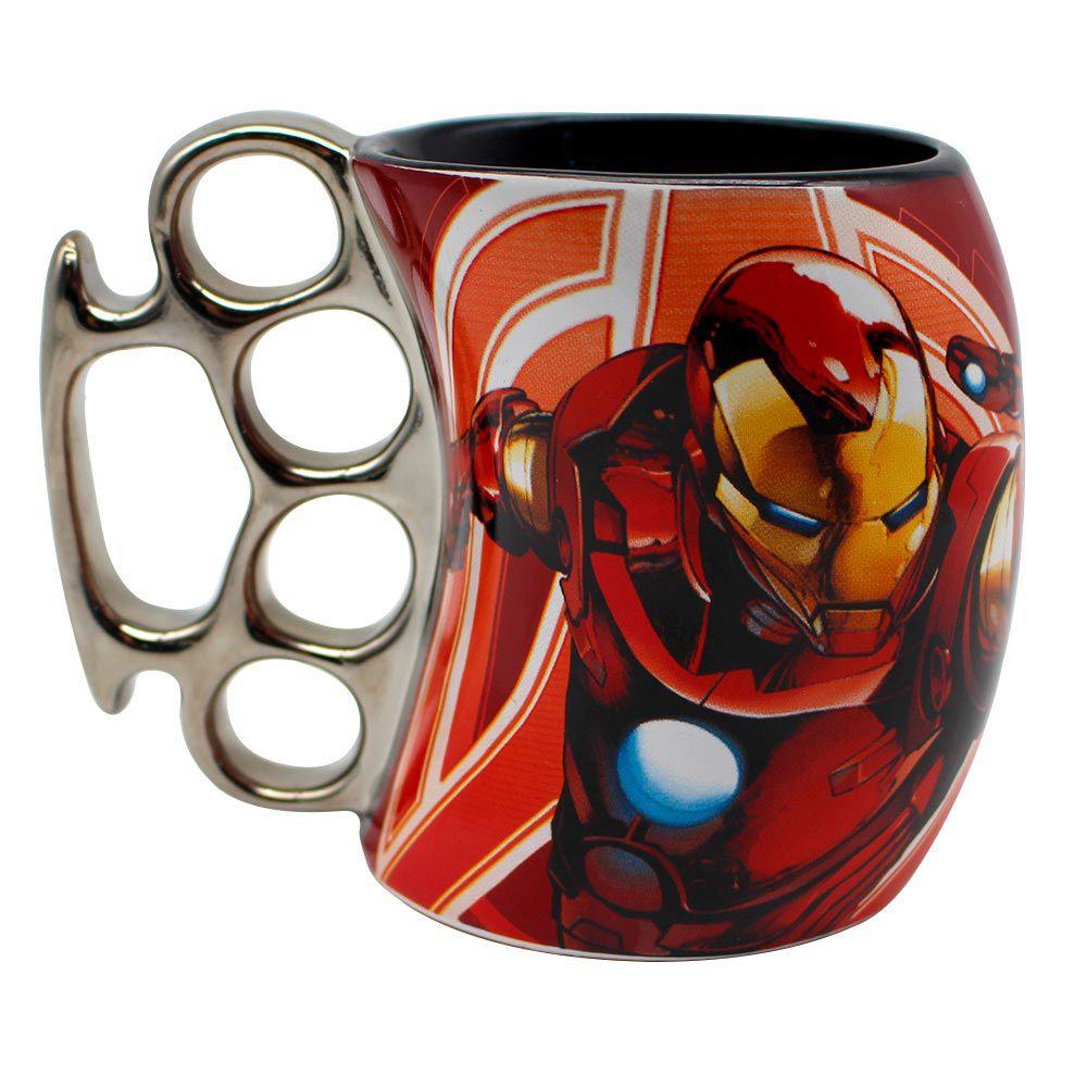 Caneca Soco Inglês Homem de Ferro Avengers