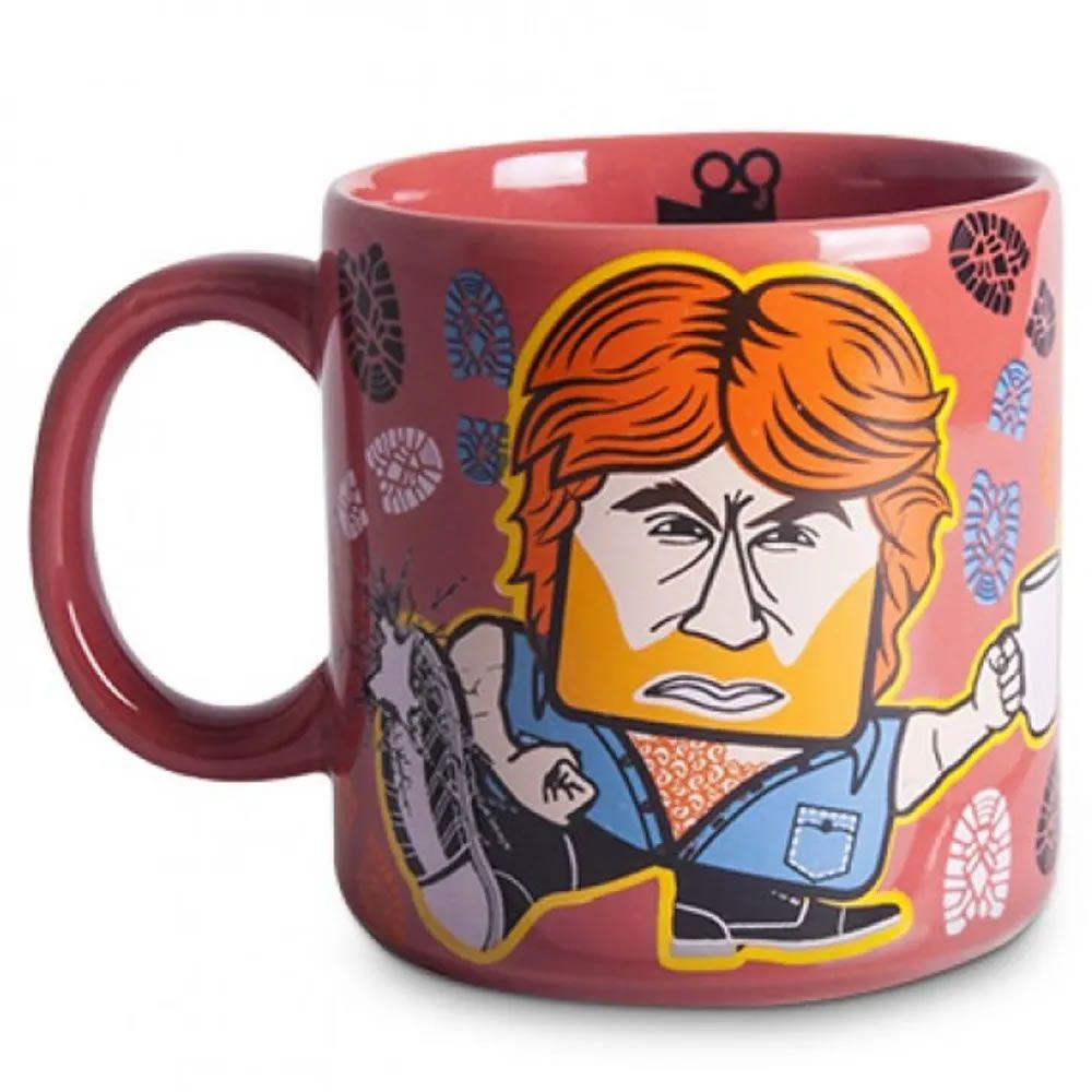 Caneca Vermelha Coffee Norris
