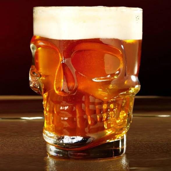 Canecão Caveira para Chopp Cerveja