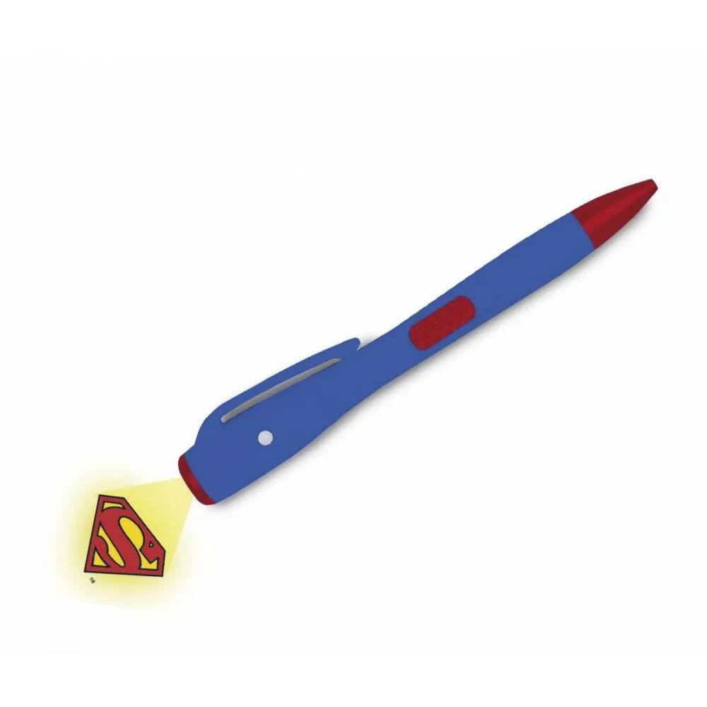Caneta do Super-Homem com Luz  DC Comics Azul