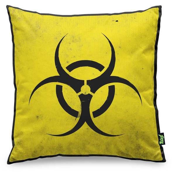 Capa de Almofada Biohazard Risco Biológico