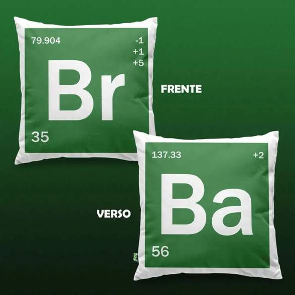 Capa de Almofada BR BA - Bromine Barium