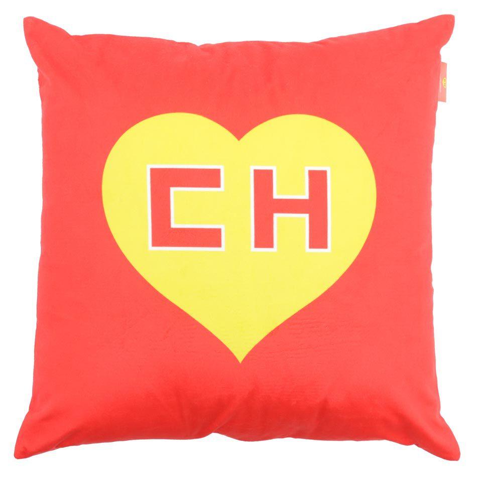 Capa de Almofada CH Chapolin Logo Vermelho
