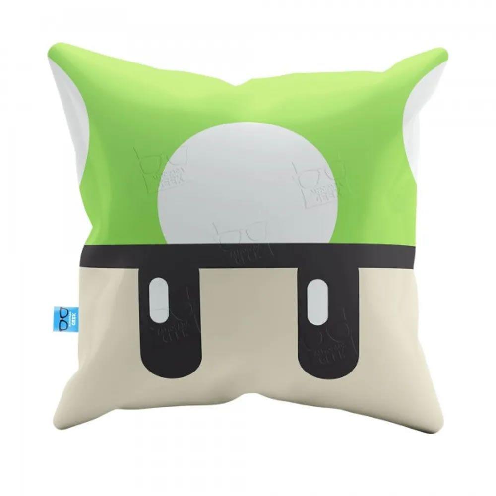 Capa de Almofada Cogumelo Verde