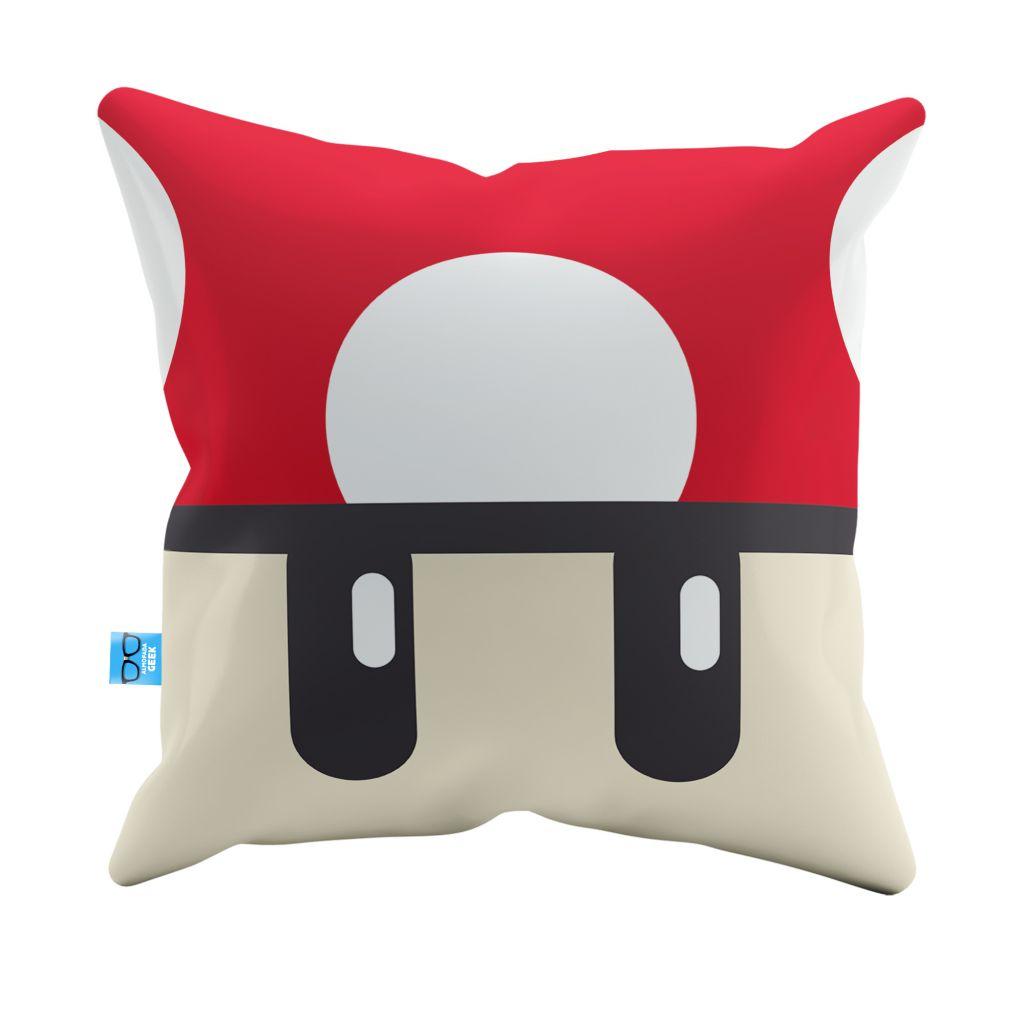 Capa de Almofada Cogumelo Vermelho