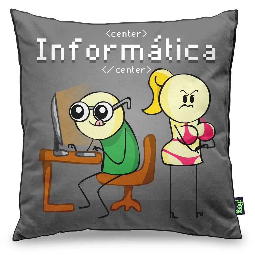 Capa de Almofada DrPepper Profissões - Informática