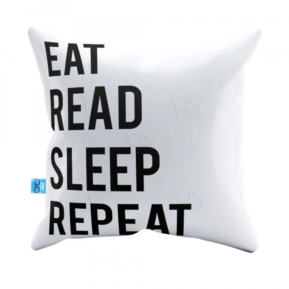 Capa de Almofada Eat Read