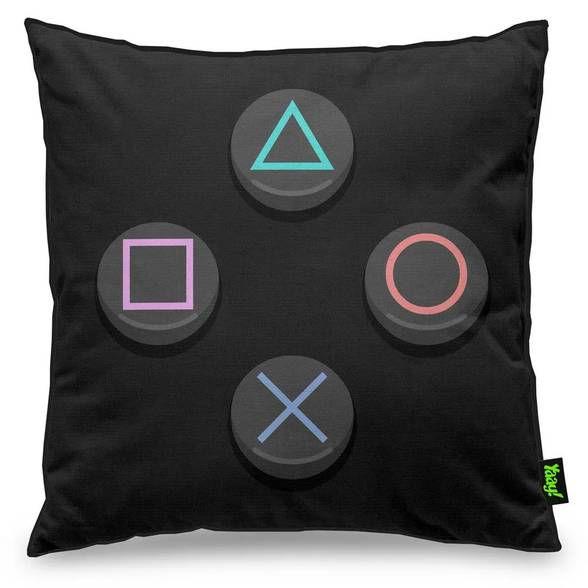 Capa de Almofada Gamer Joystick PS Sonysta