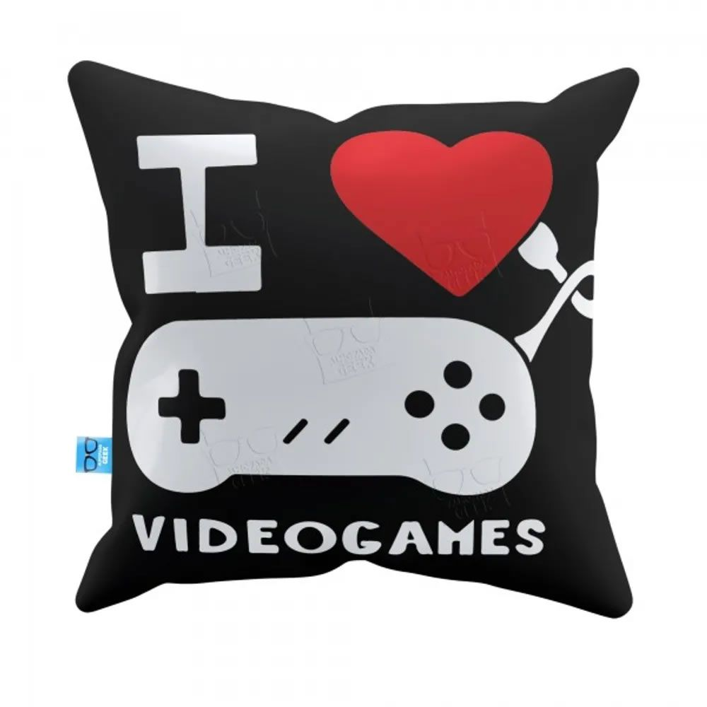 Capa de Almofada I Love Video Games
