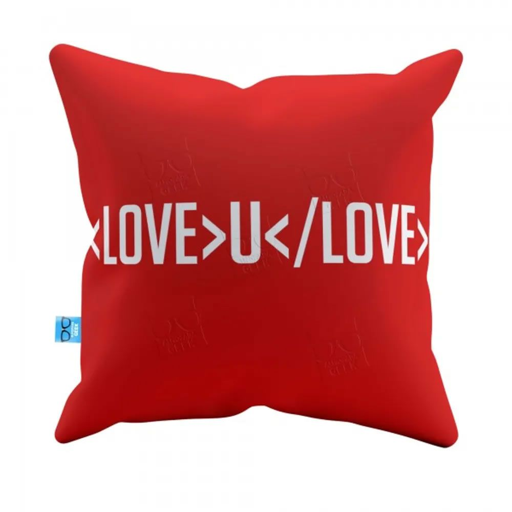 Capa de Almofada Love you Love