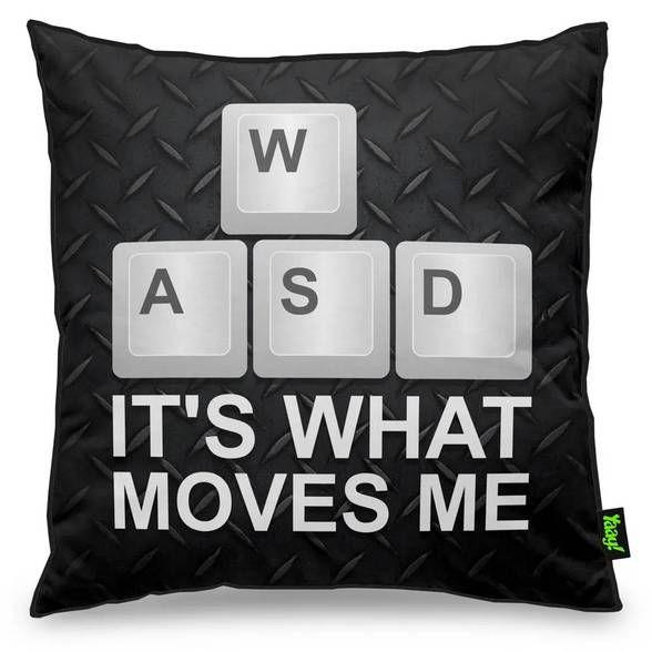 Capa de Almofada PC Gamer WASD Its What Moves Me