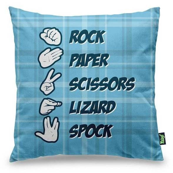 Capa de Almofada Rock Paper Scissors Lizard Spock