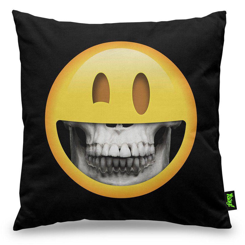 Capa de Almofada Skull Inside Emoji