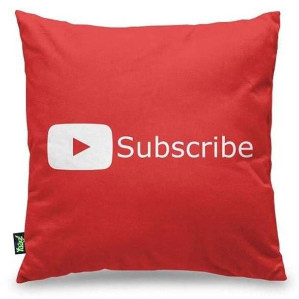 Capa de Almofada Youtube Play Button Subscribe
