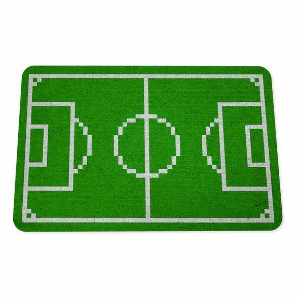 Capacho Ecológico Campo de Futebol 8-bits Pixel