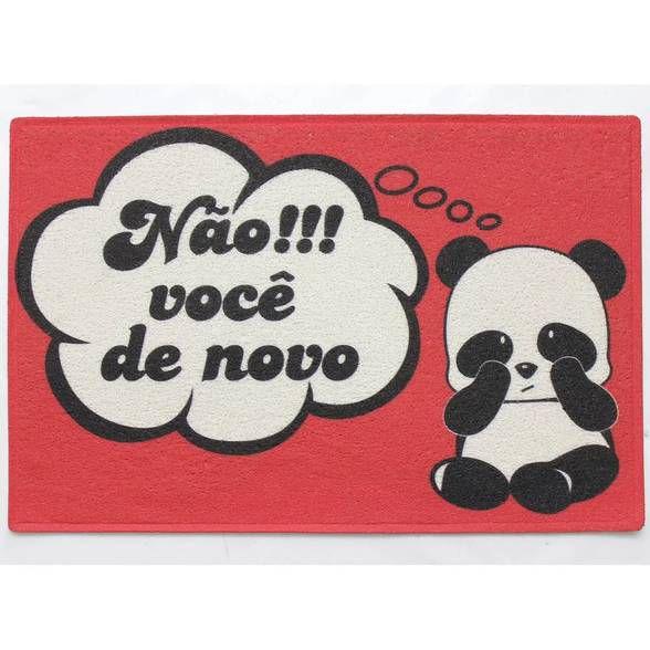 Capacho em PVC Panda - Você de Novo