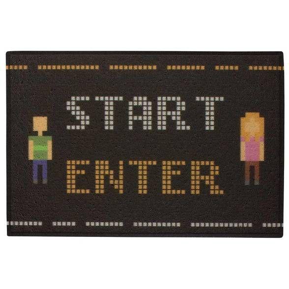 Capacho em PVC Pixel Start Enter 8 bit