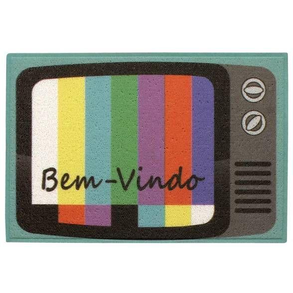 Capacho em PVC TV retrô