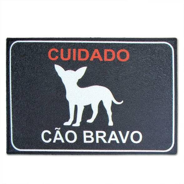Capacho em Vinil Cão Bravo