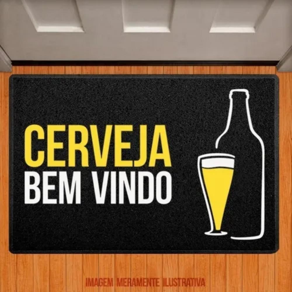 Capacho em Vinil - Cerveja bem vindo