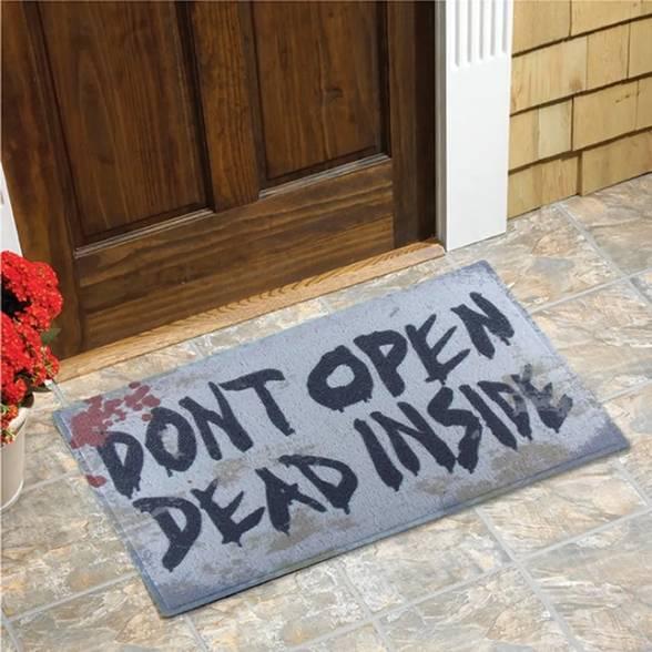Capacho em Vinil Don't Open Dead Inside