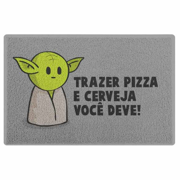 Capacho em Vinil DrPepper Mestre Mini-Yoda
