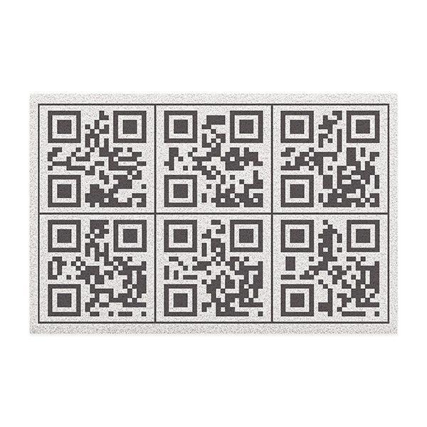 Capacho em Vinil QR Code