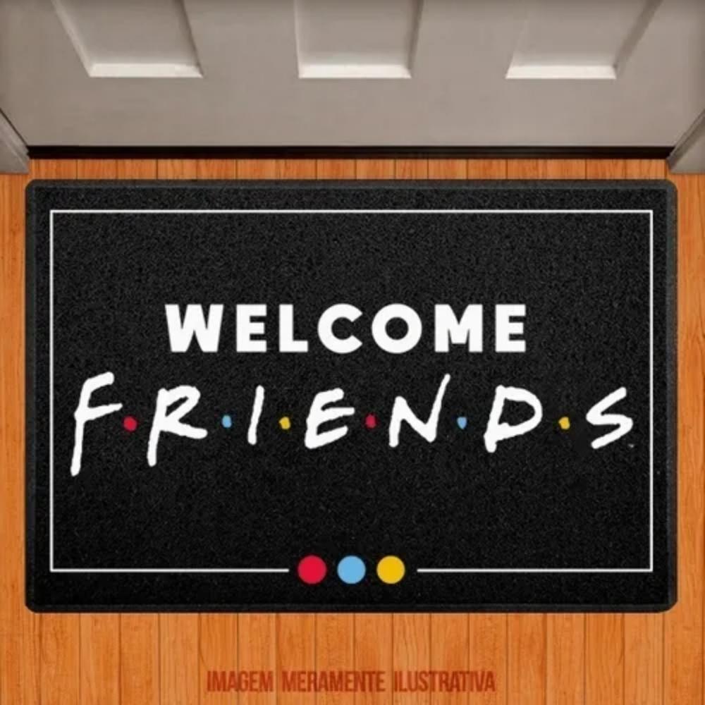 Capacho em Vinil - Welcome Friends (colorido)