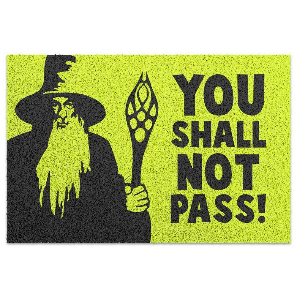 Capacho em Vinil You Shall Not Pass