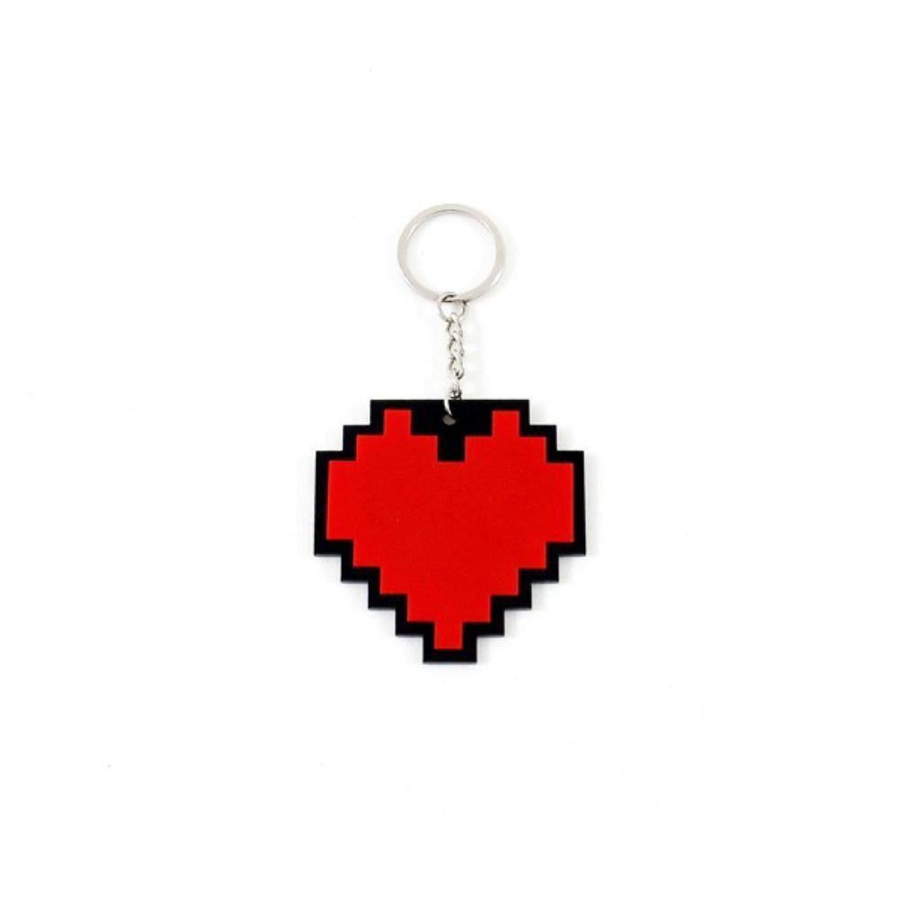 Chaveiro Coração Pixel