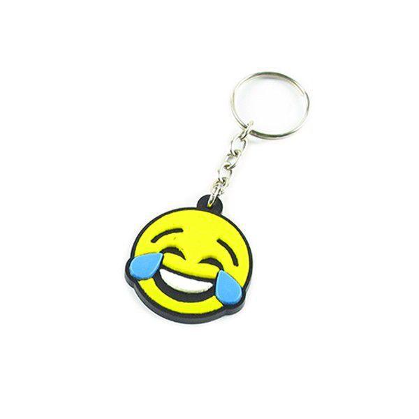 Chaveiro emborrachado Emoji Joy