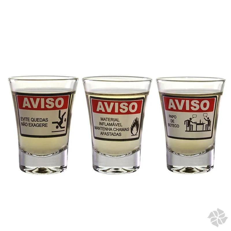 CJ 3 COPOS APERITIVO AVISOS: MATERIAL INFLAMAVEL/EVITE...