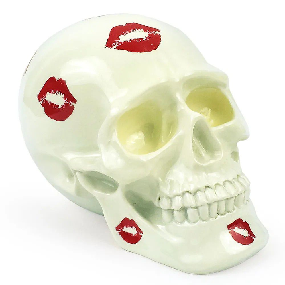 Cofre caveira com beijo