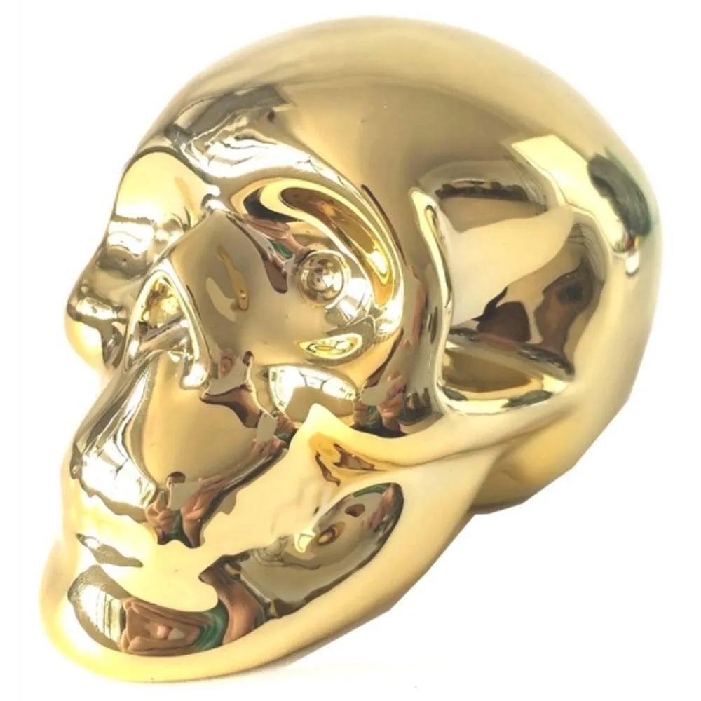 Cofre Caveira Dourado