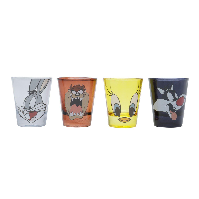 Conjunto 4 copos Shot Looney Tunes